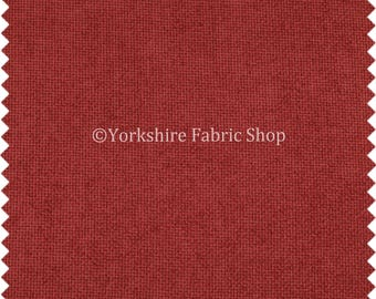 New Soft Thick Plain Basket Weave Red Upholstery Fabrics - Sold By The Metre - 070315-07