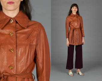 Vintage 70s Cognac Leather Jacket
