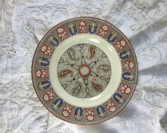 Wedgwood Indian Dish, Antique Wedgwood, 1800 Wedgwood, Aesthetic Period Plate, Wedgwood Plate, Mandala Design, Vintage Mandala