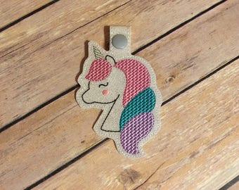 Unicorn Glitter Vinyl Keychain