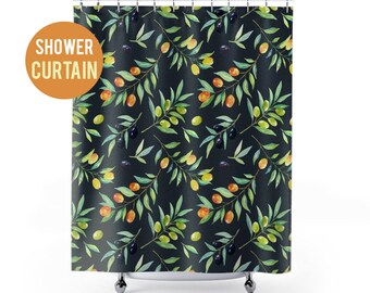 Shower Curtain Olives Pattern Shower Curtain
