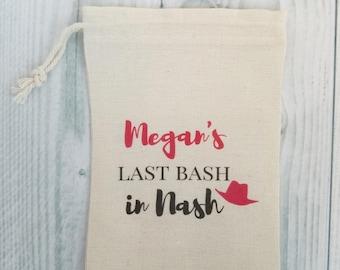 10 Bachelorette Party Favor, Hangover Kit, Survival Kit, Emergency Kit, Nashville Bachelorette, Nash Bach, Custom - Last Bash in Nash
