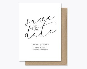 Simply Elegant Save the Date printable