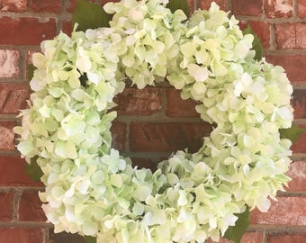 Spring Wreath, Summer Wreath, Hydrangea Wreath, Decorative Wreath