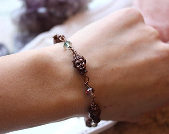 Buddha Bracelet, Buddha Jewelry, Spiritual Jewelry, Reiki Bracelet, Meditation Bracelet, Yoga Bracelet, Vegan Bracelet, Peace Bracelet
