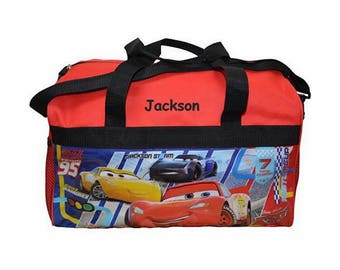 Personalized Cars Kids Travel Duffel Bag - 18""