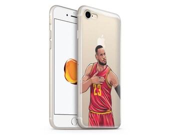 iPhone 7 Plus Case, iPhone 6s Case, Clear Rubber iPhone 8 Case, iPhone 8 plus Case, iPhone 6s, Transparent iPhone 6 Case, Lebron James Case