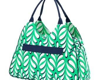 Island palm beach bag