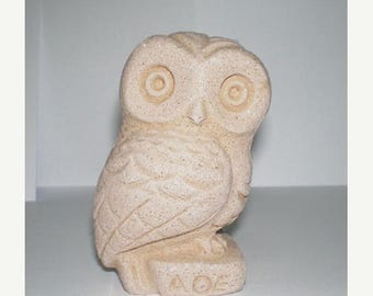 For Sale Owl Of Athens Small Statue - Ancient Greek Cycladic Art - Goddess Athena Symbol