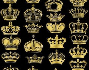 40% OFF SALE Golden Crown Clip Art Gold Crown Silhouette Clip Art Digital Crowns Clip Art Royal Crown Clipart Buy 2 Get 1 FREE