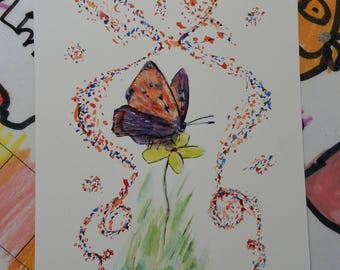 "Postcard of original ""Butterfly"""
