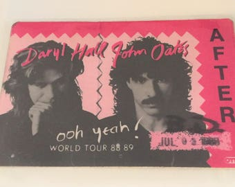 1988 Access After Pass Daryl Hall & John Oates OOH YEAH World Tour Actual Worker Pass