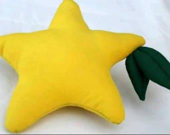 paopu fruit plushie kingdom hearts plush - hand sewn yellow star fruit cosplay accessory stuffed animal - sora kairi riku cosplay prop