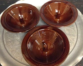 Ceramic Apple Baker Stoneware Apple Baker Onion Baker Baking Dish Brown Glazed Pottery