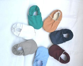 Sale solid soft shoes for baby plain baby shoes newborn shoes baby boy shoes baby girl shoes neutral baby slippers plain toddler shoes mo...