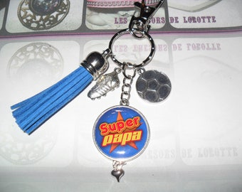 """SUPER DAD"". Personalized key holder"