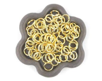 x 100 6mm (14) Gold jump rings