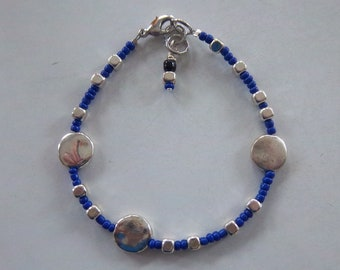 Midnight Sky - Beaded Bracelet (dark blue)