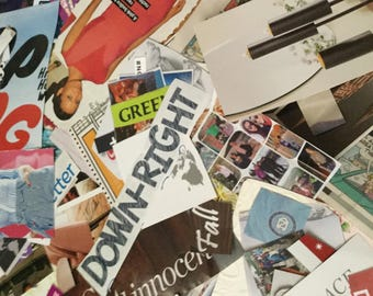 500 individual cut magazine images and words/phrases - Great for Scrapbooking