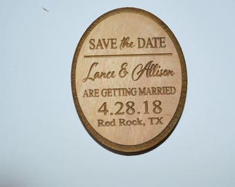 Sale! Wedding Save The Date Magnet, Wood Save The Date Magnet, Save The Date Magnet, Personalized Save The Date Magnet, Wedding Invitation