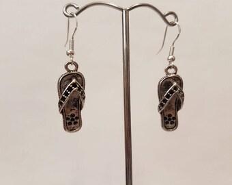 Flip flop earrings - flip flops - flip flop charm - earrings - dangle earrings - beach theme - vacation - holiday