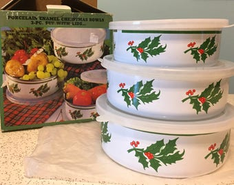 CLEARANCE Vintage Storage Bowl Set.