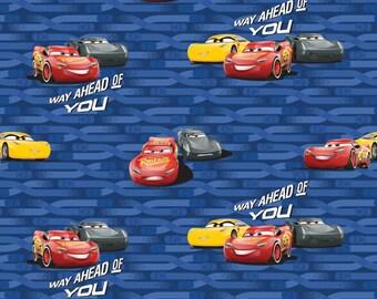 Disney Cars 3 McQueen & Cruz Cotton Woven, Lightning McQueeen Fabric, Disney Cars Fabric, Disney Cars Material, Disney Fabric, Cotton Woven