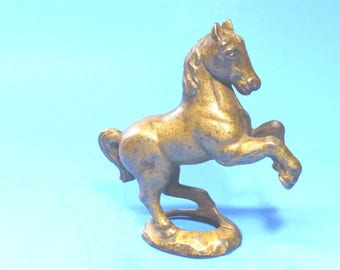 """Cast Iron """"Prancing Horse on Oval Base""""  Still Bank 1920's"""