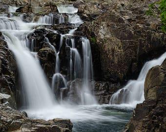 Waterfall Art, Waterfall Photo, Landscape Print, Fine Art Decor, Split Rock, Boquet River, Nature Photo, Wall Art, Adirondack Print