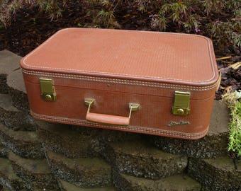 Vintage Luggage Suitcase Starline Brown