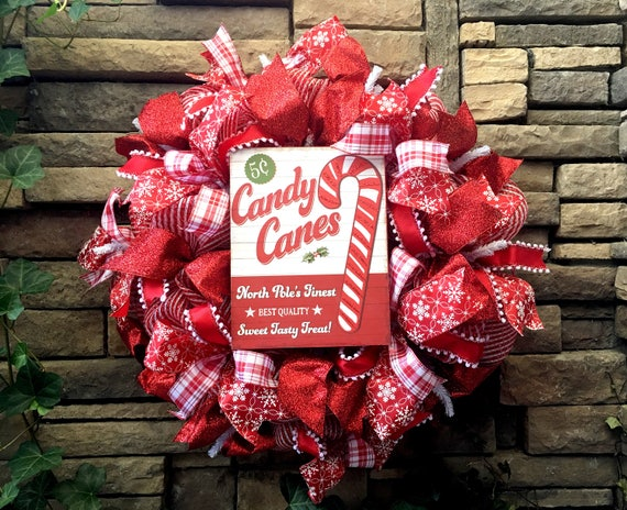 Christmas Wreath, Holiday Wreath, Mesh Wreath, Christmas Decor, Farmhouse Decor, Holiday Decor, Wreaths, Christmas Decoration, Christmas