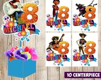 10 Coco centerpieces, Coco printable centerpieces, Coco party supplies, Coco birthday, Coco printable