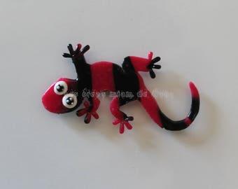Magnet Salsa salamander model pink/black