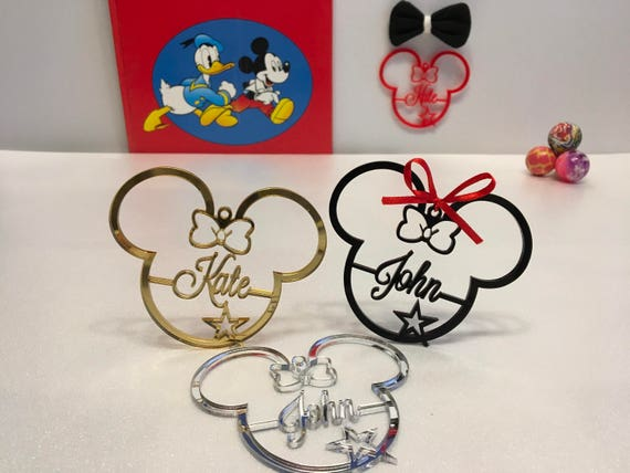 Personalized Mickey Ornament 1st Birthday Gift Mickey Mouse Clubhouse Birthday Disney Party Favors Custom name ornaments Minnie Mouse Ears