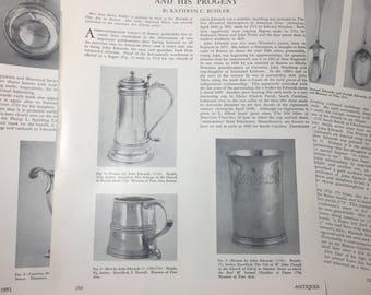 John Edwards, Goldsmith. Antiques MAGAZINE 1951