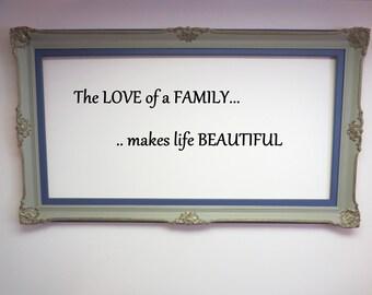 Picture frame , stencil frame, home decor, shabby empty frame,romantic  regency frame