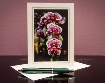 Orchids No.10-Greeting cards-Note Cards-Flower-Nature-Happy Birthday-Family-Love-Photo Card-Floral-Wedding-Celebration-Congratulation-Gift