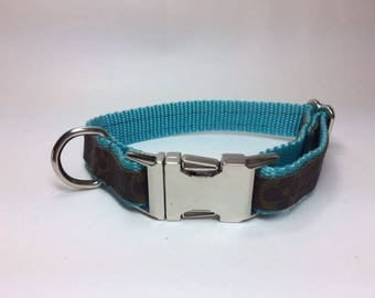 Louis Vuitton Dog Collar with Floral Pattern, Upcycled, Recycled, Repurposed,  Choice of colors and sizes, authentic LV bags used ONLY
