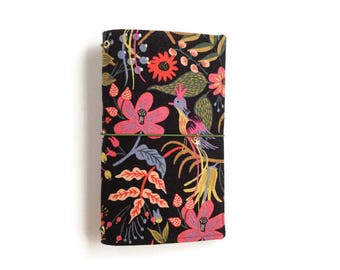 Midori Cover Gifts for Teens Gifts for Grads Gifts for Teachers Floral Fauxdori Rifle Paper Co Journal Cover Fabric Traveler's Notebook CORA