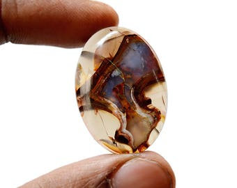 Montana Agate 28.5 Cts Natural  Gemstone Cabochon Montana Gemstone 30x21x5.6 MM R14540