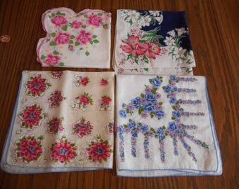 Vintage Hankies - Perfect  circa 1950