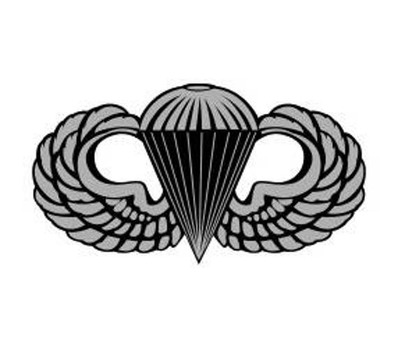 Us Army Basic Parachutist Badge Vector Files Dxf Eps Svg Ai