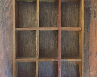 Shadow Box / Printers Tray / Display Shelf / Display Case / Wooden Knick Knack Shelf