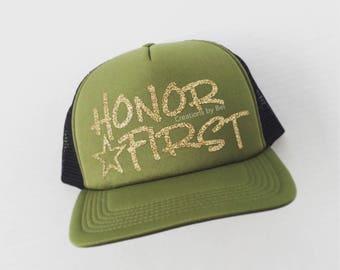 Thin Green Line Trucker Hat / Border Patrol / Trucker Hat