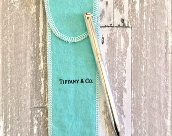 Vintage Tiffany & Co. T-Clip Sterling Silver Pen MONO PHS