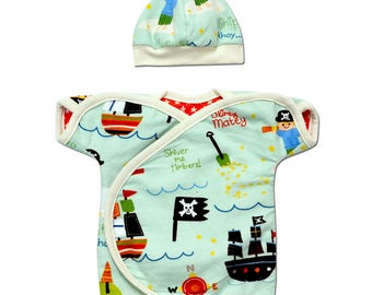 Perfectly Preemie Shiver me Timbers! Reversible NIC-IV Shirt *NICU Approved*