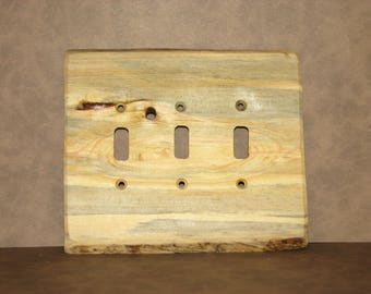 Triple Toggle Plank Switchplate, Switch Cover, Wall Plate, Wood Switchplate, Wood Plank Switchcover, Single