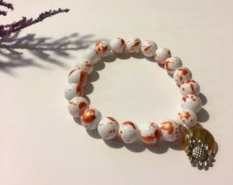 Fall Sunflower Bracelet
