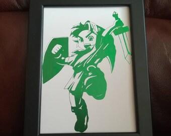 Child Link from Legend of Zelda Foil Print A5