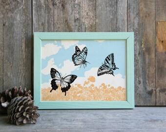 Bedroom Decor, Butterflies Print, Butterflies Wall Art, Wall Butterflies, Teen Room Decor, Nature Wall Decor, Gift Under 10, Christmas Gift